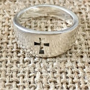 James Avery Narrow Crosslet Ring, Size 5
